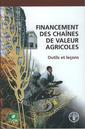 Couverture de l'ouvrage Financement des chaînes de valeur agricoles