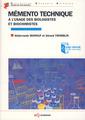 Couverture de l'ouvrage Mémento technique à l'usage des biologistes et biochimistes
