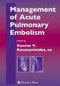 Couverture de l'ouvrage Management of Acute Pulmonary Embolism
