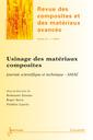 Couverture de l'ouvrage Revue des composites et des matériaux avancés Volume 23 N° 3/Septembre-Décembre 2013