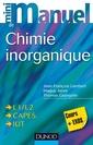 Couverture de l'ouvrage Mini manuel de chimie inorganique