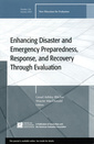 Couverture de l'ouvrage Enhancing Disaster and Emergency Preparedness, Response, and Recovery Through Evaluation