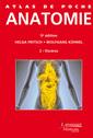 Couverture de l'ouvrage Atlas de poche Anatomie  - Volume 2