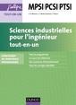Couverture de l'ouvrage Sciences industrielles pour l'ingénieur MPSI-PCSI-PTSI (2° Éd.)