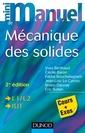 Couverture de l'ouvrage Mini manuel de mécanique des solides