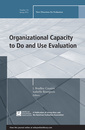Couverture de l'ouvrage Organizational Capacity to Do and Use Evaluation