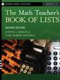 Couverture de l'ouvrage The Math Teacher′s Book Of Lists