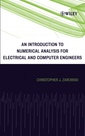 Couverture de l'ouvrage An Introduction to Numerical Analysis for Electrical and Computer Engineers