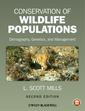 Couverture de l'ouvrage Conservation of Wildlife Populations