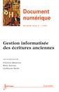 Couverture de l'ouvrage Document numérique RSTI série DN Volume 16 N° 3/Septembre-Décembre 2013