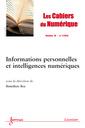 Couverture de l'ouvrage Les Cahiers du Numérique Volume 10 N° 1/Janvier-Mars 2014