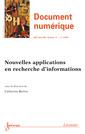 Couverture de l'ouvrage Document numérique RSTI série DN Volume 17 N° 1/Janvier-Avril 2014