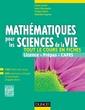Couverture de l'ouvrage Mathématiques pour les sciences de la vie : Tout le cours en fiches