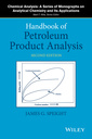 Couverture de l'ouvrage Handbook of Petroleum Product Analysis