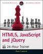 Couverture de l'ouvrage HTML5, JavaScript and jQuery 24-Hour Trainer