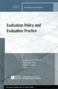 Couverture de l'ouvrage Evaluation Policy and Evaluation Practice