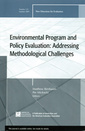Couverture de l'ouvrage Environmental Program and Policy Evaluation: Addressing Methodological Challenges