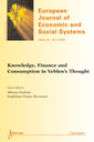 Couverture de l'ouvrage European Journal of Economic and Social Systems Volume 26 N° 1-2/January-December 2014
