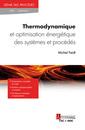 Couverture de l'ouvrage Thermodynamique et optimisation énergétique des systèmes et procédés