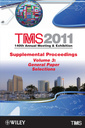 Couverture de l'ouvrage TMS 2011 140th Annual Meeting and Exhibition