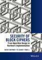 Couverture de l'ouvrage Security of Block Ciphers