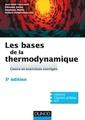 Couverture de l'ouvrage Les bases de la thermodynamique