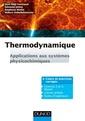 Couverture de l'ouvrage Thermodynamique