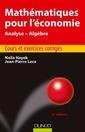 Couverture de l'ouvrage Mathématiques pour l'économie (5° Éd.)