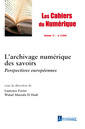Couverture de l'ouvrage Les Cahiers du Numérique Volume 11 N° 1/Janvier-Mars 2015
