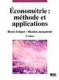 Couverture de l'ouvrage Econométrie : méthode et applications