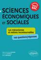Couverture de l'ouvrage Sciences économiques et sociales