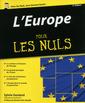 Couverture de l'ouvrage L'europe pour les nuls