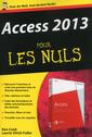 Couverture de l'ouvrage Access 2013 poche pour les nuls