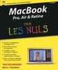 Couverture de l'ouvrage MacBook Pro Air & Retina pour les nuls