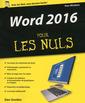Couverture de l'ouvrage Word 2016 pour les nuls