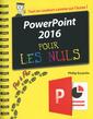 Couverture de l'ouvrage Powerpoint 2016 pas a pas pour les nuls