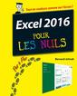 Couverture de l'ouvrage Excel 2016 pas a pas pour les nuls