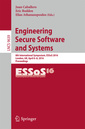 Couverture de l'ouvrage Engineering Secure Software and Systems