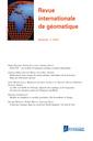 Couverture de l'ouvrage Revue internationale de géomatique Volume 26 N° 1/Janvier-Mars 2016