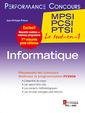 Couverture de l'ouvrage Informatique 1re année MPSI, PCSI, PTSI