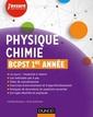 Couverture de l'ouvrage Physique-Chimie BCPST 1re année