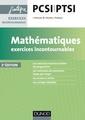 Couverture de l'ouvrage Mathématiques. Exercices incontournables PCSI-PTSI (2° Éd.)