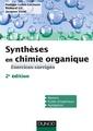 Couverture de l'ouvrage Synthèses en chimie organique