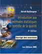 Couverture de l'ouvrage Introduction aux méthodes statistiques en contrôle de la qualité  )
