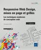Couverture de l'ouvrage Responsive Web Design, mises en page et grilles