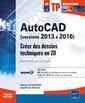 Couverture de l'ouvrage AutoCAD (versions 2013 à 2016)