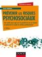 Couverture de l'ouvrage Prévenir les risques psychosociaux