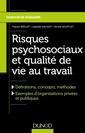 Couverture de l'ouvrage Risques psychosociaux et qualité de vie au travail