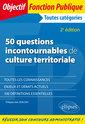 Couverture de l'ouvrage 50 questions incontournables de culture territoriale