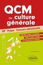Couverture de l'ouvrage QCM de culture générale